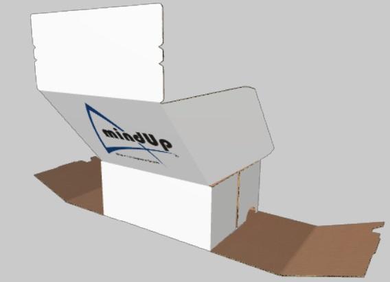 Kartonage mit mindUp Logo
